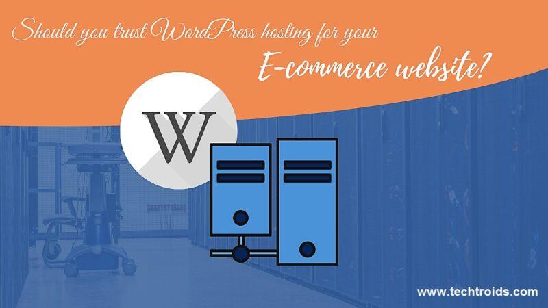 Should you trust WordPress hosting for your E-commerce website?